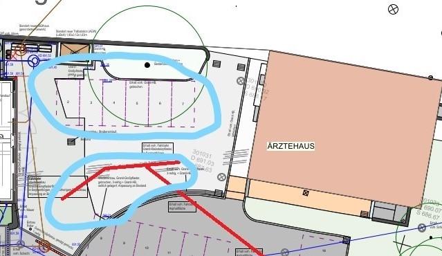 Baustelle: Behelfsparkplätze