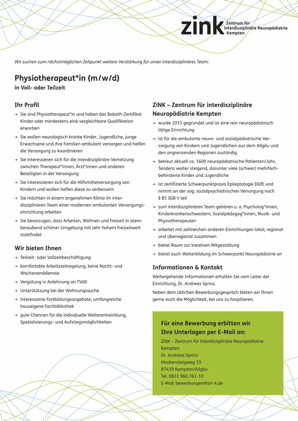 Physiotherapeut*in (m/w/d)