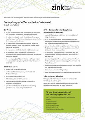 Sozialpädagog*in/Sozialarneiter*in (m/w/d)